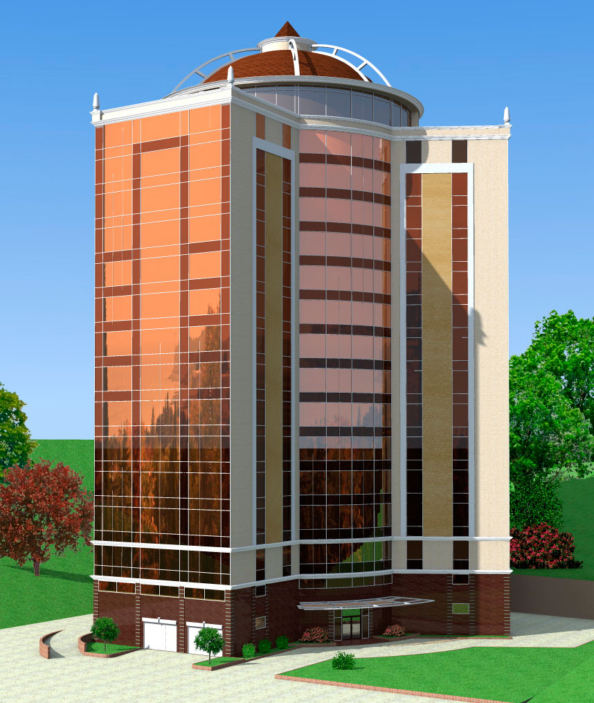 Архитектурный проект многоэтажного дома.