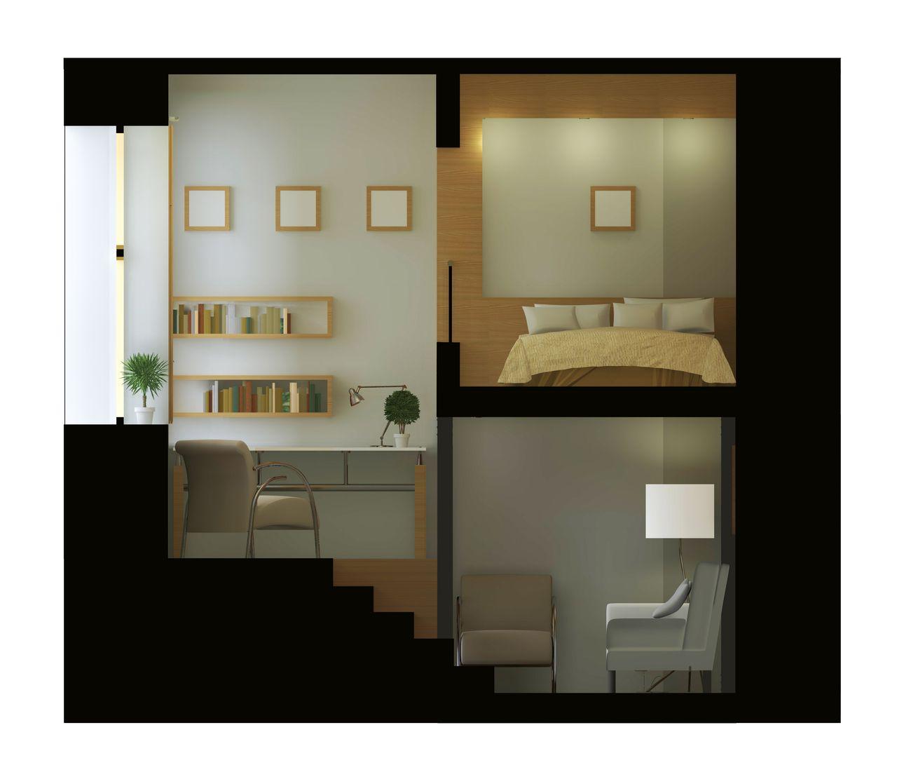 Проект реконструкции и перепланировки малогабаритной квартиры - Вид 3