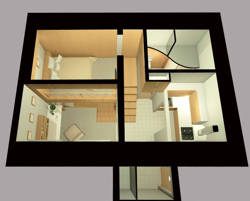 Проект реконструкции и перепланировки малогабаритной квартиры - План.