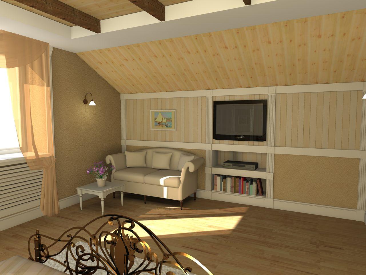 Разработка дизайн проекта квартиры - Гостевая комната вид 3