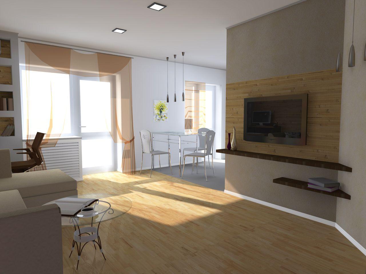 Разработка дизайна квартиры - Гостевая комната вид 4