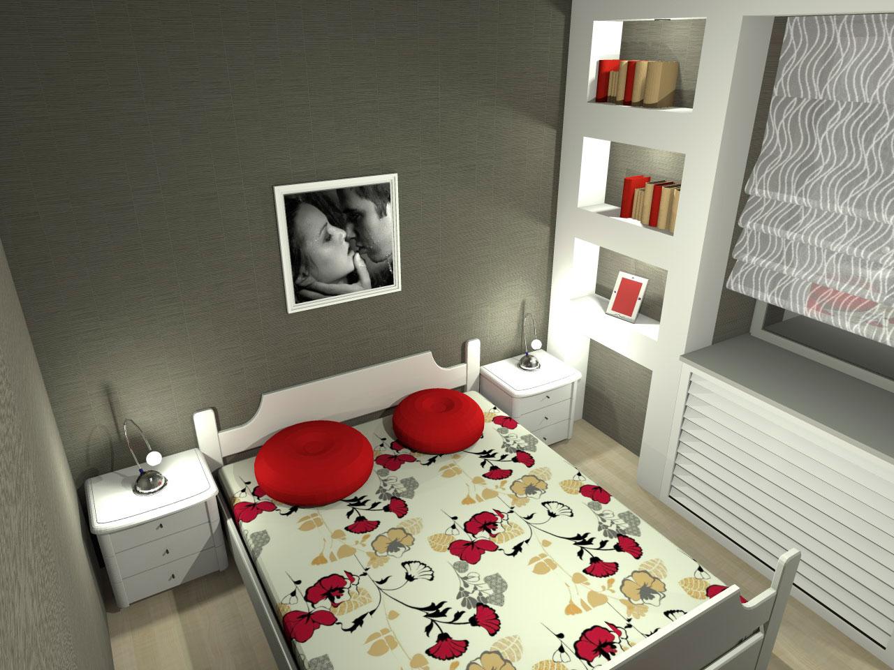Разработка проектов интерьеров - Интерьер спальни