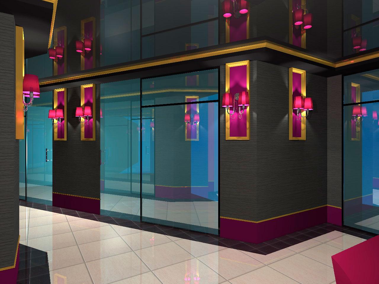 Разработка интерьера ресторана. 3D визуализация.