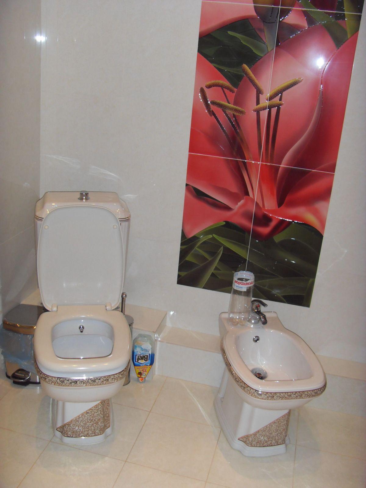 Ремонт ванной комнаты - Декоративная кафельная плитка.