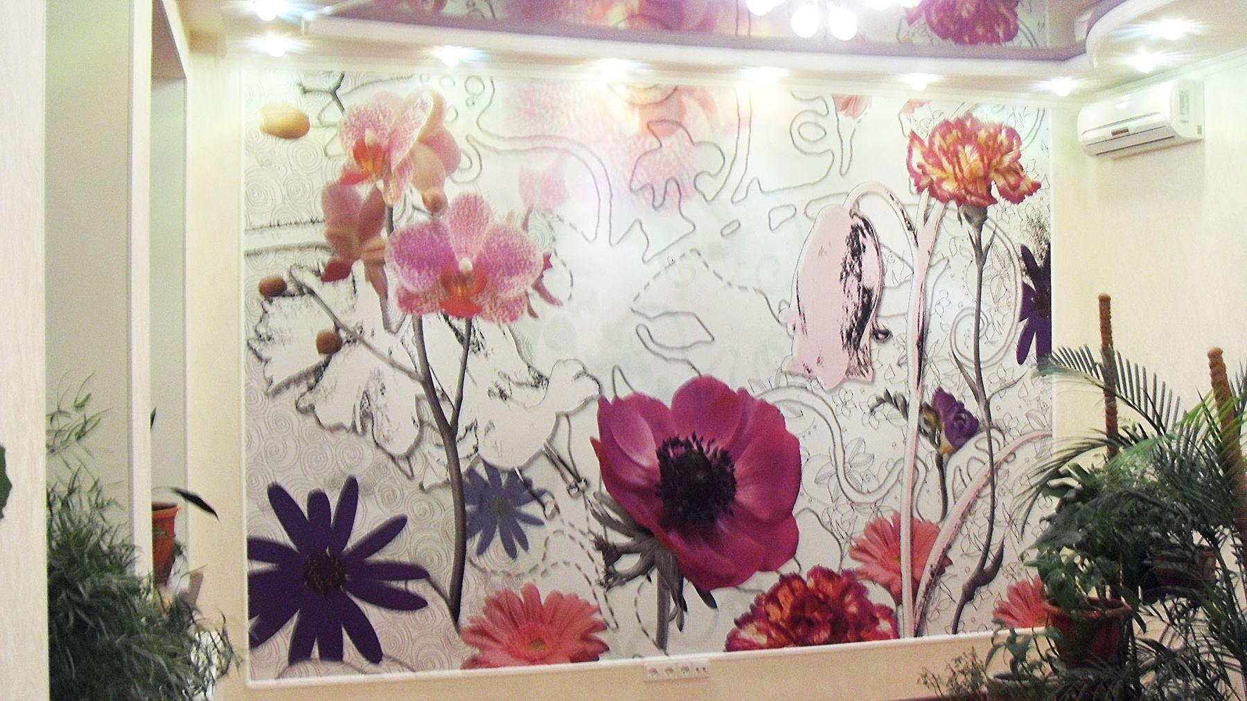 Роспись стен в отделке комнаты