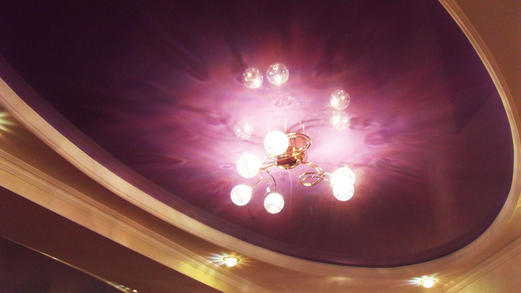 Ремонт и отделка помещений - Натяжной потолок с гипсокартонными элементами.