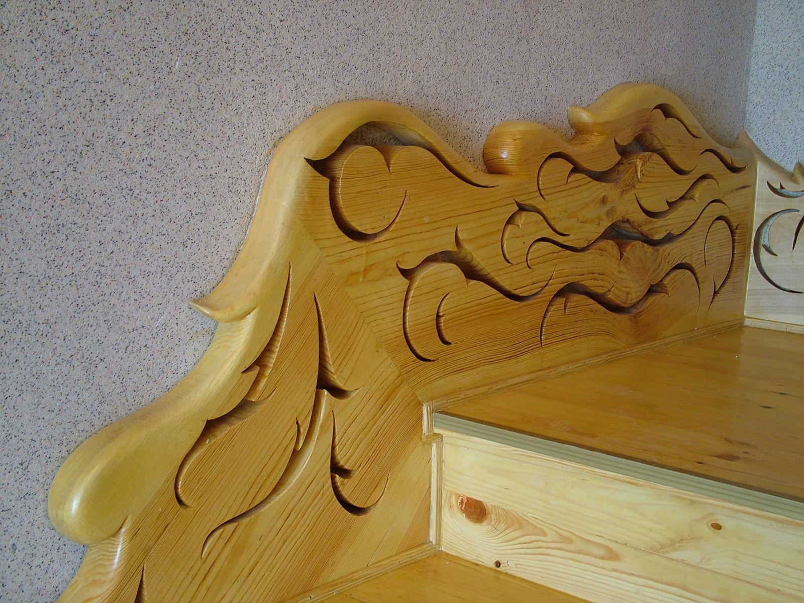 Столярные работы - Деревянный элемент украшения лестницы.