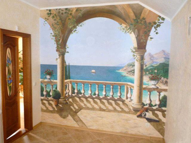 Расширение границ комнаты росписью стен