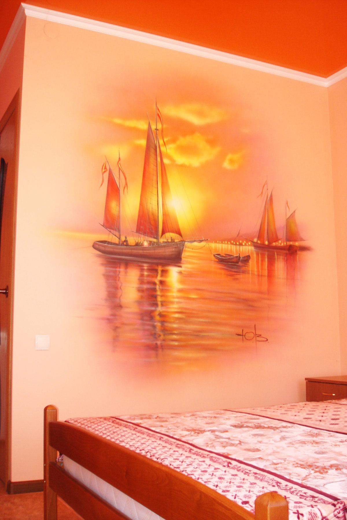 Роспись стен фото - Летний восход