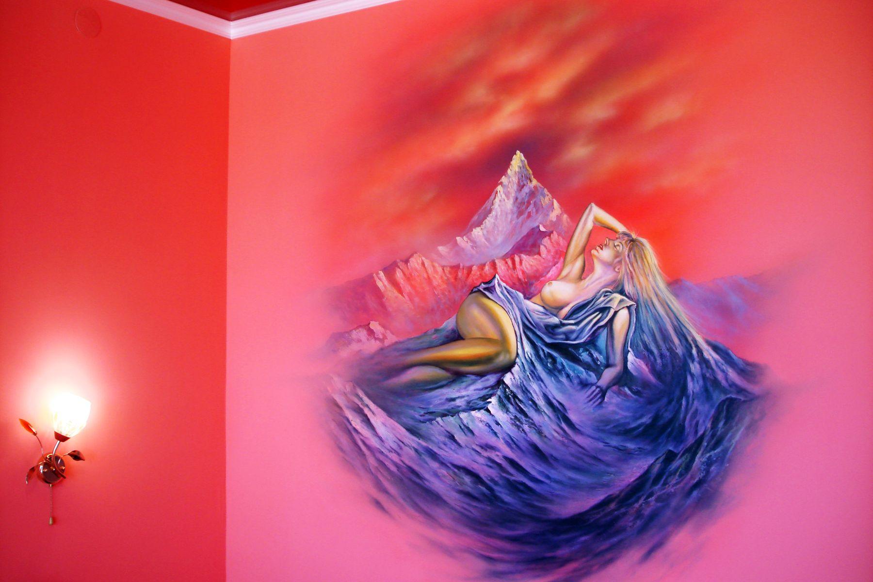 фрески на стенах в интерьере - Девушка. Фэнтази.